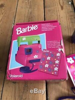 RARE polaroid Barbie Instant Camera FILM ORIGINAL STICKERS X2 600 Extreme Film