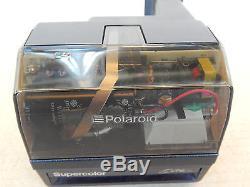 Rara Polaroid 600 Supercolor Elite Trasparente Con Flash Testata