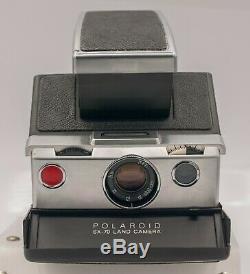 Rare Black/Chrome Var. Polaroid SX-70 Instant Land Camera Untested