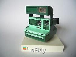 Rare POLAROID Party Green 600 Camera / Sofortbild Kamera mit Nahlinse
