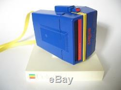 Rare POLAROID Supercolor Esprit blue/yellow melber camera Sofortbild Kamera