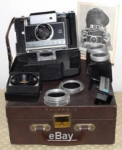 Rare Polaroid 190 En Mallette Avec Accessoires Tbe