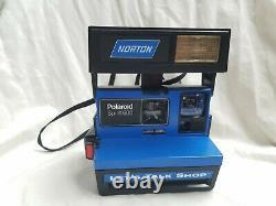 Rare Polaroid Spirit 600 Blue Norton Let's Talk Shop MINT