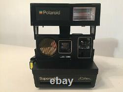 Rare Polaroid Supercolor Elite / Transparent Model Black And Transparent 1982