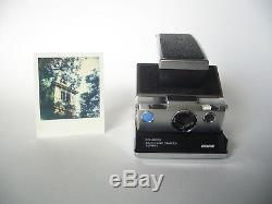 Rare REVUE POLAROID SX 70 Blue Button ALPHA 1 CAMERA / Sofortbild Kamera