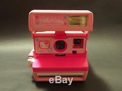 Rare Sanrio Hello Kitty Instant Polaroid Camera 600 & Bag From Japan Free Ship