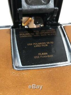 Rare Vintage 1973 Polaroid SX-70 Camera In Original Styrofoam + Instruction +++