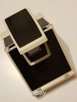 SX-70 Ivory Model 2 Polaroid camera Alpha model TESTED & NEW Black MirrorSkin