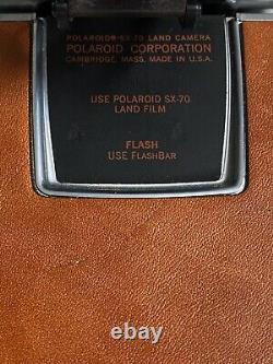 VINTAGE POLAROID SX-70 INSTANT FILM LAND CAMERA With DOCUMENTATION