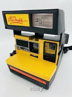 Vintage McDonald's Polaroid 600 Camera Tested Free Shipping Ultra Rare
