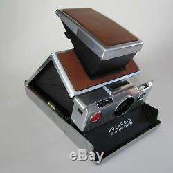 Vintage POLAROID SX-70 Land Camera Alpha 1 w Leather Case + Self Timer 1972