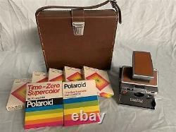 Vintage POLAROID SX-70 Land Camera with 7 Packs of Film (exp 1976-1981) +Hard Case