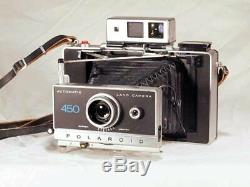 Vintage Polaroid 450 Instant Film Automatic Land Camera with Case & Accessories