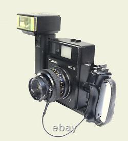 Vintage Polaroid 600 SE Film Camera, Mamiya Lens & Metz EFL, outfit