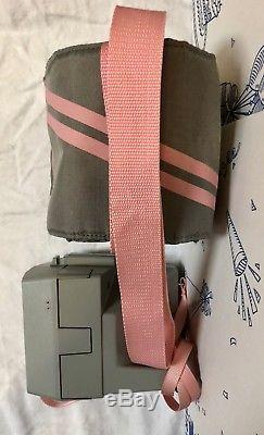 Vintage Polaroid Cool Cam 600 Pink & Gray Strap Carrying Case Camera Lot Set 80s