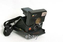 Vintage Polaroid SLR680 camera body Serviced New Navy Kangaroo Leather Skin