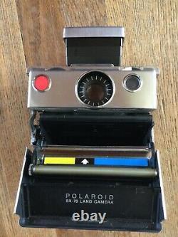 Vintage Polaroid SX-70 Instant Camera with Case Extras Original Box UNTESTED
