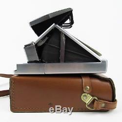 Vintage Polaroid SX-70 Instant Film Land Folding Camera with Tan Leather Case