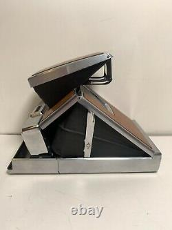 Vintage Polaroid SX-70 Land Camera Alpha1 -Silver/Leather+ Leather Carrying Case