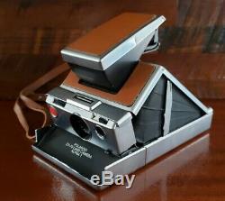 Vintage Polaroid SX-70 Land Camera Alpha 1 Film Tested Works Strap All Original