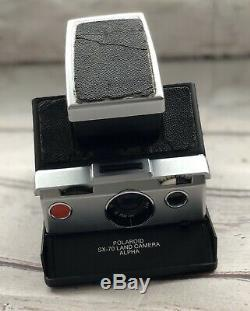 Vintage Polaroid SX-70 Land Camera Alpha. Original Brown Leather Case & Manuel