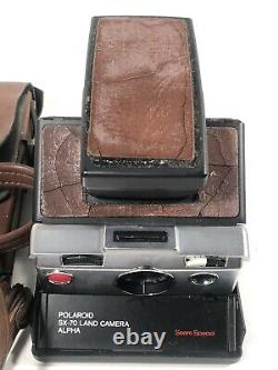 Vintage Polaroid SX-70 Land Camera Alpha Sears Special With Case