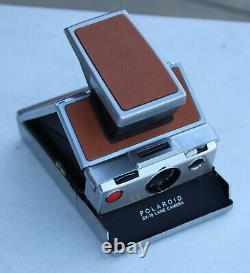 Vintage Polaroid SX-70 Land Camera Folding Instant Film Brown Leather Alpha 1