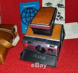 Vintage Polaroid SX-70 Land Camera & Instructions & Leather Case