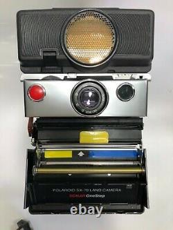 Vintage Polaroid SX-70 Land Camera Sonar OneStep With Flash 2350# new Boxed