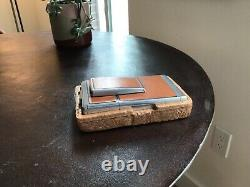 Vintage Polaroid SX-70 Land Camera Tan Chrome NICE & CLEAN