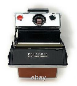 Vintage Polaroid SX-70 Land Camera with original Leather Case + Manuals FOR REPAIR