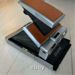 Vintage Polaroid Sx-70 Land Camera Alpha 1 Brown Leather