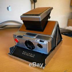 Vintage Polaroid Sx-70 Land Camera Alpha 1 Brown Leather In Nice Original Jp