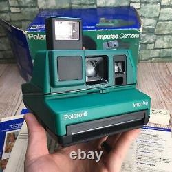Vintage RARE Green Polaroid Impulse Instant Camera 600 Plus In The Original Box