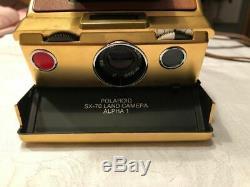 Vintage camera Polaroid SX 70 Land Camera Alpha 1 GOLD voll funtionsfähig